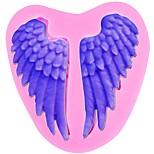 Недорогие -ангельские крылья силиконовые формы фонтант торты украшения инструменты сахарный шоколад конфеты глины формы