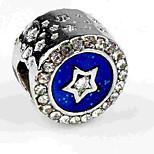 Недорогие -Ювелирные изделия DIY 1 штук Бусины Искусственный бриллиант Сплав Тёмно-синий Круглый Шарик 0.5 cm DIY Ожерелье Браслеты