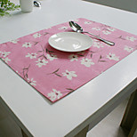 cheap -Graphics Linen/Cotton Square Placemat Table Decorations