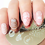 Недорогие -пасхальный кролик яйцо ногтей искусство штамповка плиты изображение шаблон рожденный хорошенькая тарелка для ногтей bp60