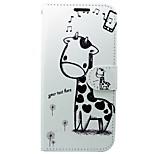 Недорогие -Кейс для Назначение Huawei P10 Кошелек Бумажник для карт со стендом Флип Мультипликация Твердый для Huawei