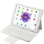 cheap -Case For Apple with Keyboard Auto Sleep/Wake Up Full Body Solid Color Hard PU Leather ABS for Apple