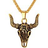 Недорогие -Муж. , Cool Ожерелья с подвесками , Нержавеющая сталь Ожерелья с подвесками , Повседневные
