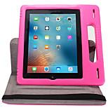 Недорогие -Кейс для Назначение iPad 4/3/2 Защита от удара со стендом Флип Авто Режим сна / Пробуждение Чехол Сплошной цвет Твердый для