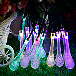 cheap -Waterproof 30 LEDs 6M String Light Multicolor Decorative Solar Powered