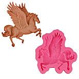 Недорогие -3d лошадиные помады силиконовые формы единорога мыльные формы для выпечки пегас торт украшения инструменты