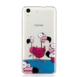 cheap -Case For Huawei Y6 II / Honor Holly 3 Nova Pattern Back Cover Flamingo Soft TPU for Huawei Y6 II / Honor Holly 3 Huawei Y5 II / Honor 5