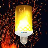 Недорогие -brelong e27 / e14 / b22 светодиодные огненные лампы огня огня 2835 99smd ac85-265v