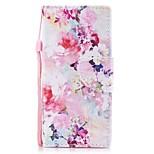 Недорогие -Кейс для Назначение Sony Xperia XZ1 Xperia XZ1 Compact Бумажник для карт Кошелек со стендом Флип С узором Магнитный Чехол Цветы Твердый