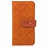 Недорогие -Кейс для Назначение OnePlus 5 OnePlus 5T Кошелек Бумажник для карт со стендом Флип Магнитный Чехол Геометрический рисунок Цветы Твердый