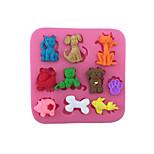 Недорогие -Формы для нарезки печенья Кошка Собаки Поросенок конфеты Для Cookie Для торта Для шоколада Торты силикагель Своими руками День