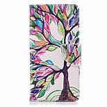Недорогие -Кейс для Назначение Nokia Nokia 8 Nokia 6 Кошелек Бумажник для карт со стендом Флип С узором Чехол дерево Твердый Искусственная кожа для