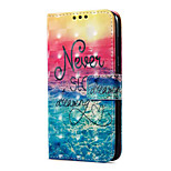 cheap -Case For Huawei P9 lite mini Card Holder Wallet with Stand Flip Magnetic Pattern Full Body Scenery Hard PU Leather for P9 lite mini