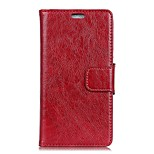 cheap -Case For Huawei Mate 9 Pro Mate 9 Card Holder Wallet with Windows Flip Full Body Solid Color Hard PU Leather for Mate 10 Mate 10 pro Mate