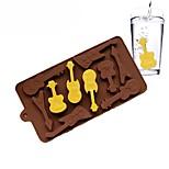 Недорогие -силиконовая форма 10 даже гитарные формы 3d шоколадная форма ледяной куб поддон diy торты украшения
