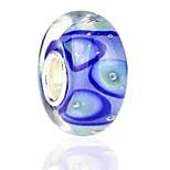 Недорогие -Ювелирные изделия DIY 1 штук Бусины Цветная глазурь Сплав Синий Круглый Шарик 0.2 cm DIY Ожерелье Браслеты