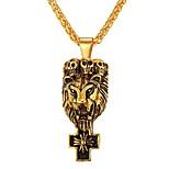 Недорогие -Муж. , Винтаж Ожерелья с подвесками , Нержавеющая сталь Ожерелья с подвесками , Повседневные