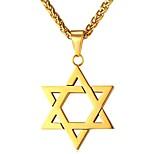 Недорогие -Муж. Звезда На каждый день Этнический Ожерелья с подвесками , Нержавеющая сталь Ожерелья с подвесками , Повседневные