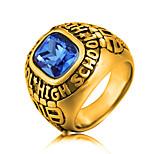 Недорогие -Муж. Массивные кольца Цирконий На каждый день Мода Нержавеющая сталь Циркон , Бижутерия Для вечеринок Официальные