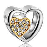 Недорогие -Ювелирные изделия DIY 1 штук Бусины Искусственный бриллиант Сплав Желтый Тёмно-синий Сердце Шарик 0.2 cm DIY Ожерелье Браслеты