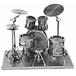 cheap -3D Puzzles Metal Puzzles Round Drum Set Jazz Drum Hand-made Parent-Child Interaction Exquisite Metal Music Contemporary Classic & Timeless
