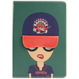 cheap -Case For Apple iPad mini 4 Shockproof with Stand Pattern Auto Sleep/Wake Up Cartoon Hard PU Leather TPU for iPad Mini 4 iPad Mini 3/2/1