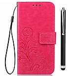 cheap -Case For OPPO Oppo F5 Oppo A57 Card Holder Wallet with Stand Flip Full Body Cases Solid Color Hard PU Leather for OPPO F5 OPPO F1s OPPO