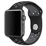 abordables -Ver Banda para Apple Watch Series 3 / 2 / 1 Apple Correa Deportiva Silicona Correa de Muñeca