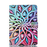 cheap -Case For Apple iPad mini 4 iPad Mini 3/2/1 with Stand Flip Pattern Auto Sleep/Wake Up Full Body Cases Flower Hard PU Leather for iPad