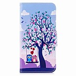 cheap -Case For Xiaomi Redmi 5 Plus Redmi Note 5A Card Holder Wallet with Stand Flip Magnetic Full Body Cases Tree Owl Hard PU Leather for