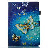 cheap -Case For Apple iPad 10.5 iPad (2017) Wallet with Stand Flip Pattern Auto Sleep/Wake Up Full Body Butterfly Hard PU Leather for iPad Air