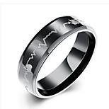 Недорогие -Муж. Классические кольца , Мода Нержавеющая сталь Круглый Бижутерия Подарок Повседневные