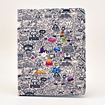 cheap -Case For Apple iPad Air 2 iPad Air iPad 4/3/2 with Stand Flip Pattern Auto Sleep/Wake Up Full Body Cases Cartoon Hard PU Leather for iPad