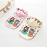 cheap -Dogs Hoodie Dog Clothes Cute Style Cartoon Pink White Costume For Pets