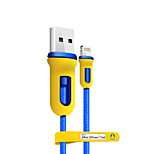 Недорогие -Подсветка Адаптер USB-кабеля Компактность Высокая скорость Назначение iPhone 150 cm Нейлон