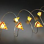 Недорогие -20 светодиодов 2 м piaaz модель строка свет теплый белый aa батареи питание