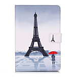 cheap -Case For Apple iPad mini 4 iPad Mini 3/2/1 Card Holder Wallet with Stand Pattern Auto Sleep/Wake Up Full Body Cases Eiffel Tower Hard PU