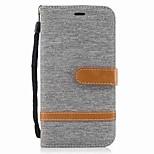 Недорогие -Кейс для Назначение Motorola G5 Plus G4 Plus Бумажник для карт Кошелек Защита от удара со стендом Флип Чехол Сплошной цвет Твердый