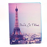 cheap -Case For Apple iPad Air 2 iPad Air iPad 4/3/2 with Stand Flip Pattern Auto Sleep/Wake Up Full Body Cases Eiffel Tower Hard PU Leather for
