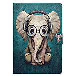 cheap -Case For Apple iPad mini 4 iPad Mini 3/2/1 Card Holder with Stand Flip Pattern Auto Sleep/Wake Up Full Body Cases Elephant Hard PU Leather