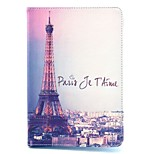 cheap -Case For Apple iPad mini 4 iPad Mini 3/2/1 with Stand Flip Pattern Auto Sleep/Wake Up Full Body Cases Eiffel Tower Hard PU Leather for
