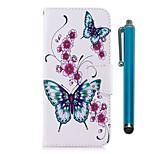 Недорогие -Кейс для Назначение Huawei Honor 7X Бумажник для карт Кошелек со стендом Флип Магнитный Чехол Бабочка Твердый Кожа PU для Honor 7X Honor
