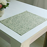 cheap -Ordinary Polyester/Linen Blend Square Placemat Table Decorations