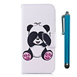 cheap -Case For Sony Xperia XZ Premium Xperia XZ1 Card Holder Wallet with Stand Flip Magnetic Full Body Cases Panda Hard PU Leather for Xperia