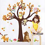 Недорогие -Животные Наклейки Простые наклейки Декоративные наклейки на стены, Винил Украшение дома Наклейка на стену Стена