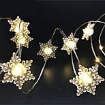 Недорогие -20 светодиодов 2-метровая звезда светло-теплые белые батареи aa питание