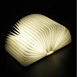 Недорогие -1шт Книга LED Night Light Теплый белый Встроенная литий-батарея Складной Перезаряжаемый Декоративный свет С портом USB Простота