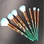 cheap -7 pcs Makeup Brush Set Nylon Eco-friendly Travel Size Full Coverage Plastic Face