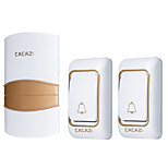 cheap -Ding dong Music Two to One Doorbell Sound adjustable Wireless Doorbell 200 Surface Mounted