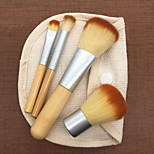 cheap -Makeup Brush Set Nylon Eco-friendly Soft Travel Size Full Coverage Bamboo Face